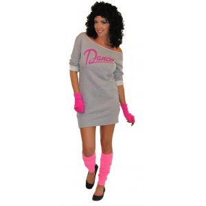 80's Flashdance Sweatshirt Dress