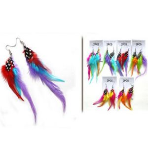 80's Feather Party Earrings