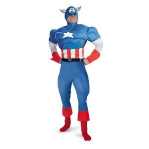 Captain America Muscle Chest Adult
