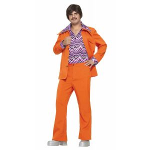 70s Orange Leisure Suit