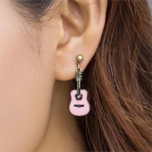 Mini Guitar Earrings