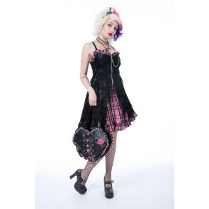 Pink Black Rocker Dress