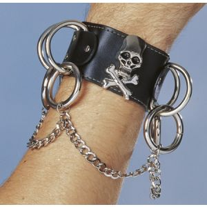Skull W/Chains Wristband