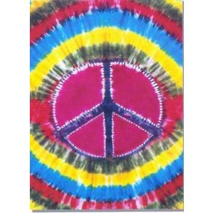 Tye Dye Peace Bed or Couch Cover