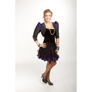 The 80's Uptown Girl Dress (Purple)
