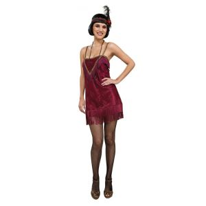 20's Burgundy Flapper Costumes