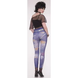 90's Punk Rock Jean Leggings