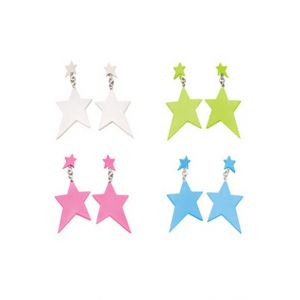 Pastel 80's Star Earrings