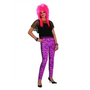 80's Rocker Pink Zebra Pants