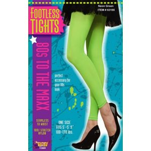 80's Footless Tights (Neon Green)