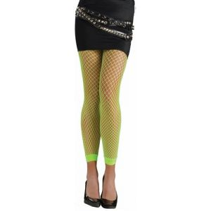 80's Green Neon Fishnet Leggings