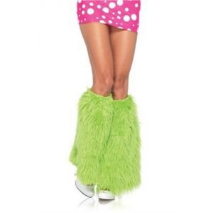 Furry Neon Green Leg Warmers