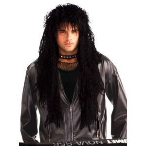 80s Hard Rocker Wig Black