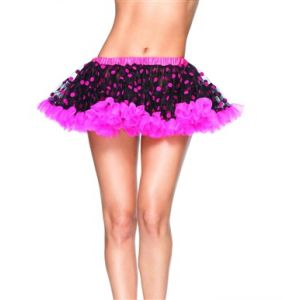 80's Party Skirt (Pink Dots)