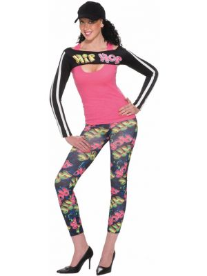 90 s Hip Hop Leggings with Shrug Costume 59f3949bc4b