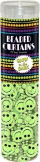 Bead Curtain Glow Happy Faces